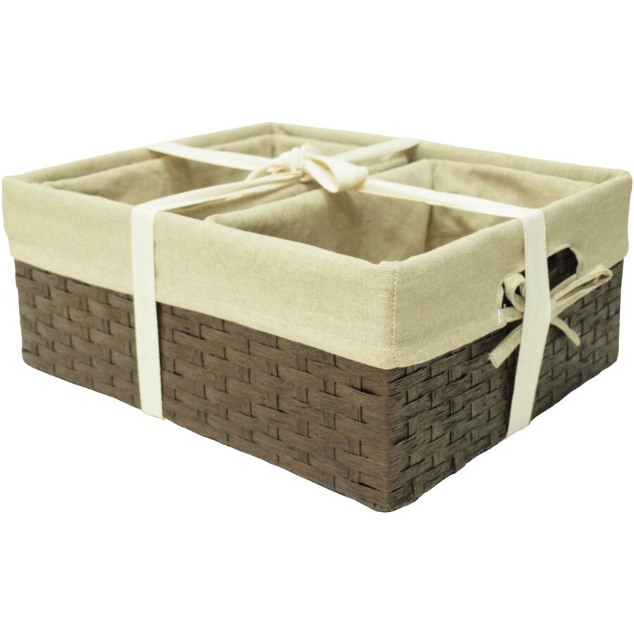 13.5-in W x 6.5-in H x 16-in D Woven Cord Basket Set