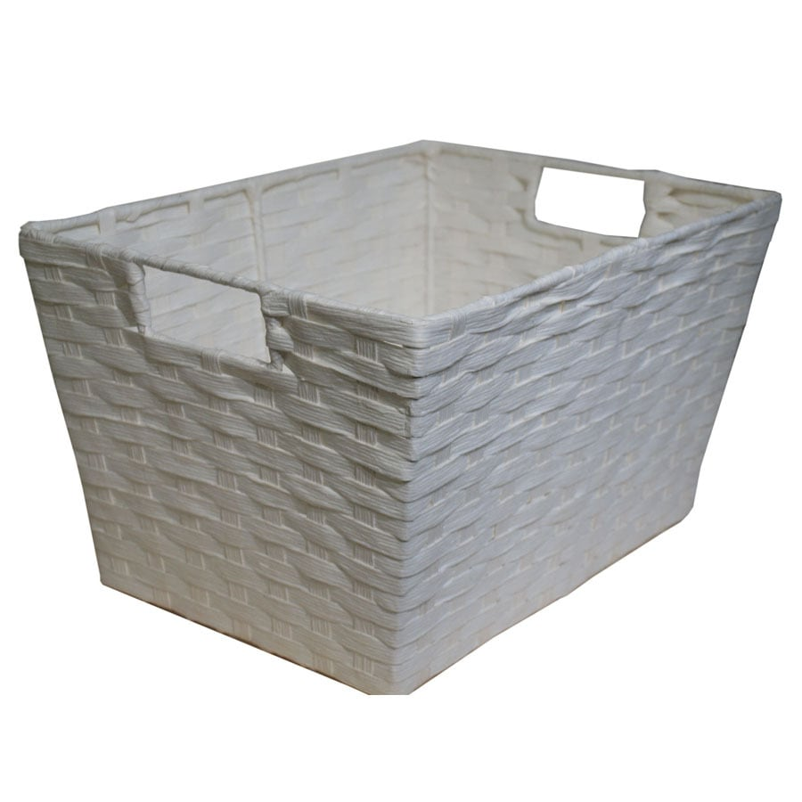 Style Selections Style Selection 10-in W x 8-in H x 14-in D White Paper Basket