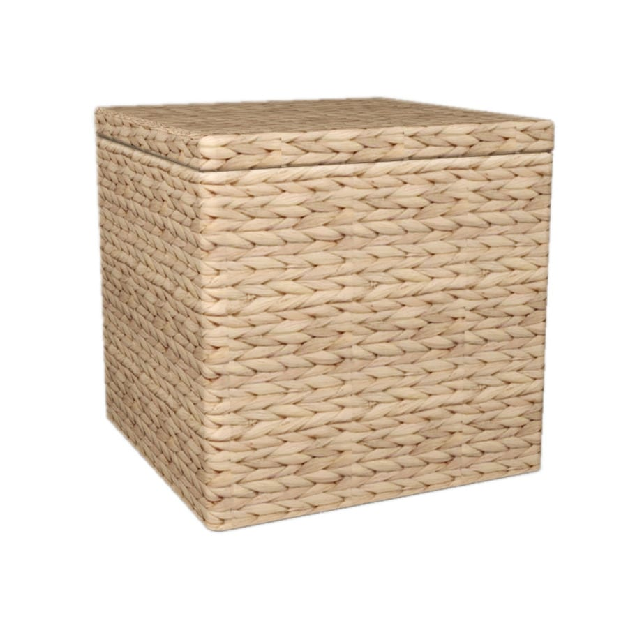Natural Square Storage Ottoman