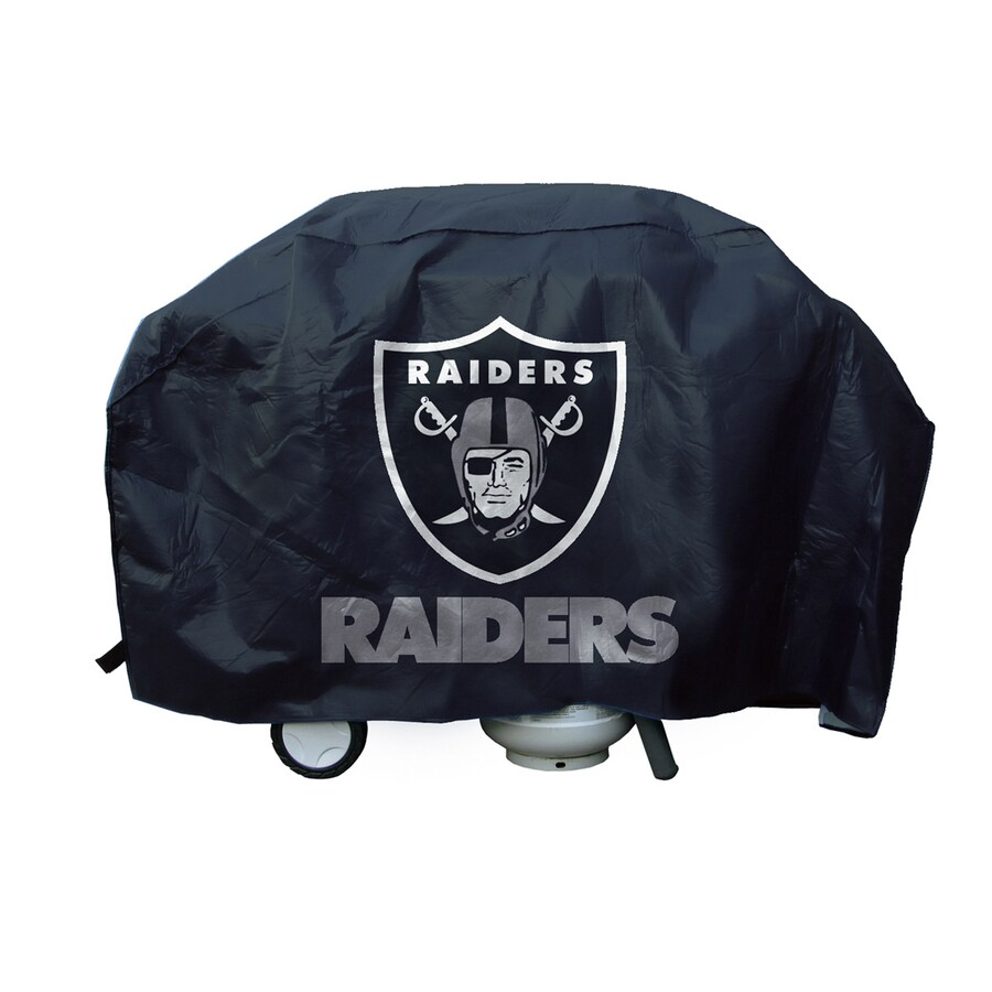 68-in x 35-in Vinyl Oakland Raiders Grill Cover Fits Most Universal