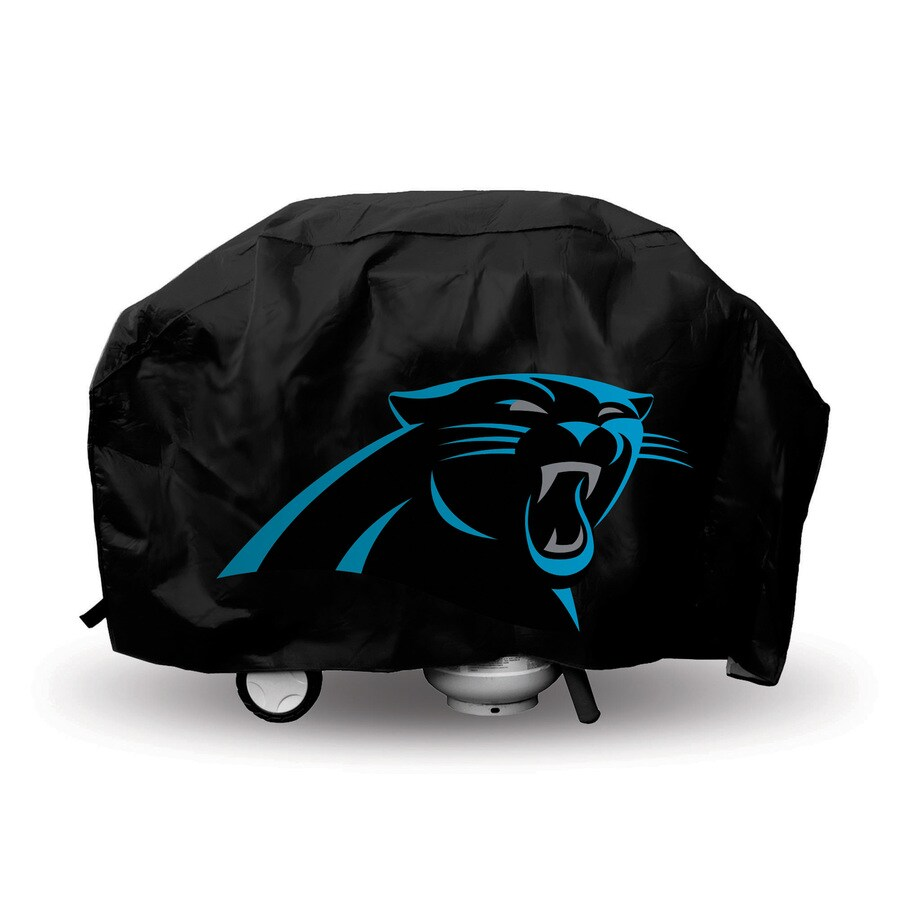 Rico Industries/Tag Express 68-in x 21-in Black Vinyl Carolina Panthers Grill Cover Fits Most Universal