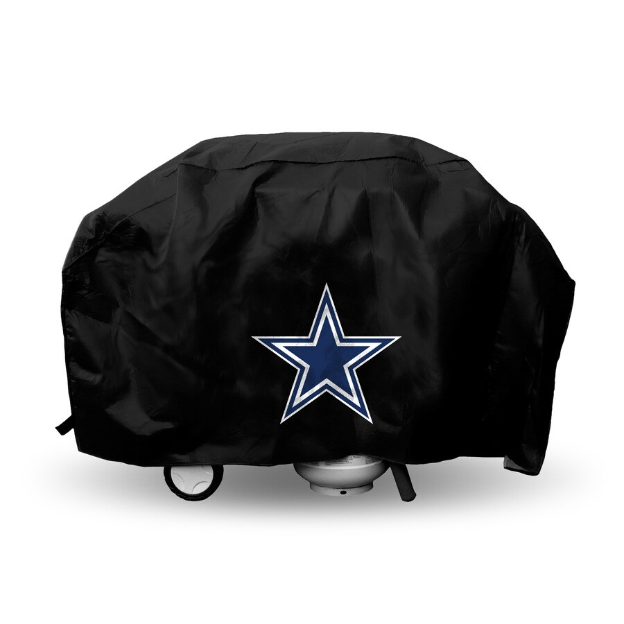 Rico Industries/Tag Express 68-in x 21-in Black Vinyl Dallas Cowboys Grill Cover Fits Most Universal