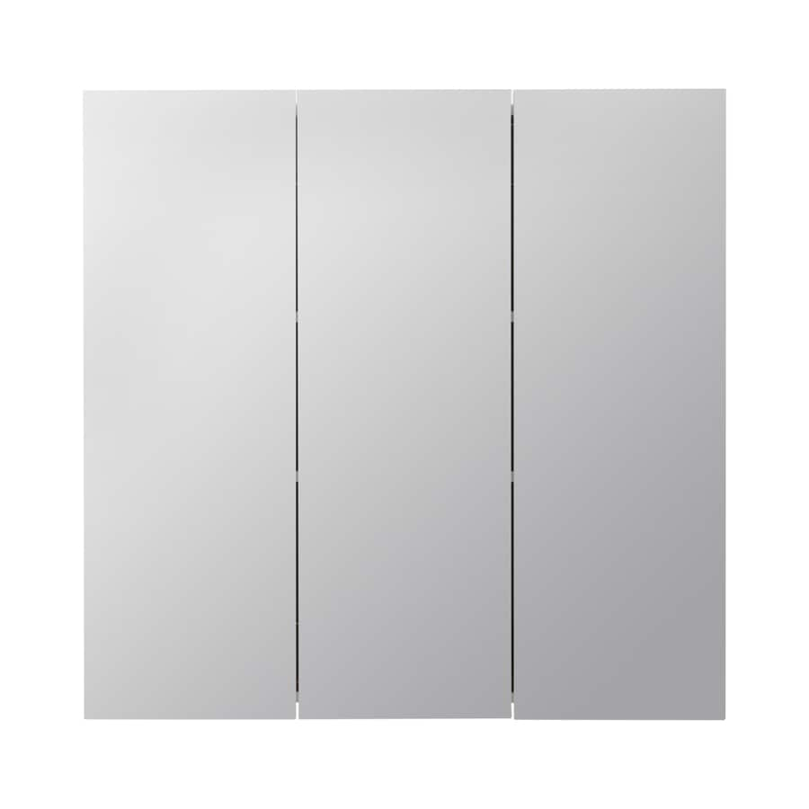 Style Selections 30 25 In X 29 75 Square Surface Mirrored Particleboard Medicine Cabinet