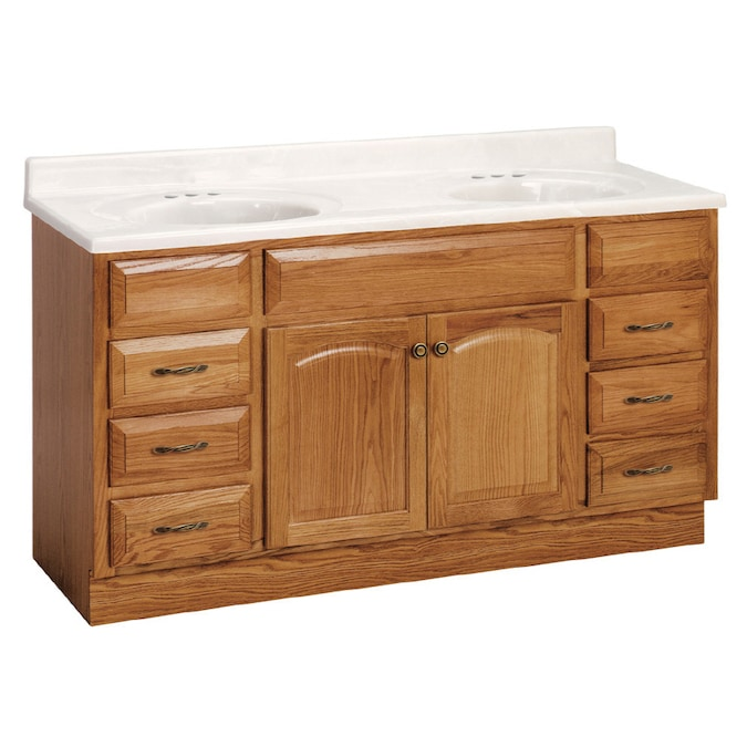 Project Source 60 Oak Elegance Bath Vanity In The Bathroom Vanities Without Tops Department At Lowes Com