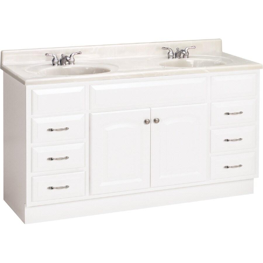Shop Project Source White Elegance Traditional Bath Vanity At - Lowes hardware bathroom vanity