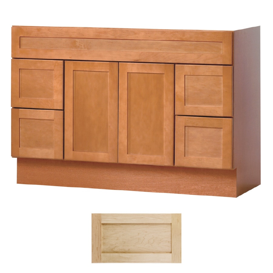 Insignia Crest Natural Maple Transitional Bathroom Vanity  Common  48 in x  21. Shop Insignia Crest Natural Maple Transitional Bathroom Vanity