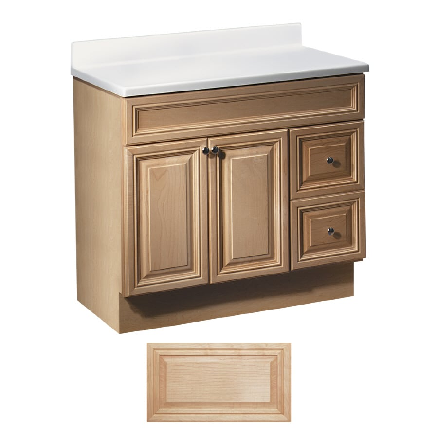 Insignia Ridgefield Natural Maple Traditional Bathroom Vanity (Common:  36-in x 21- - Shop Insignia Ridgefield Natural Maple Traditional Bathroom Vanity