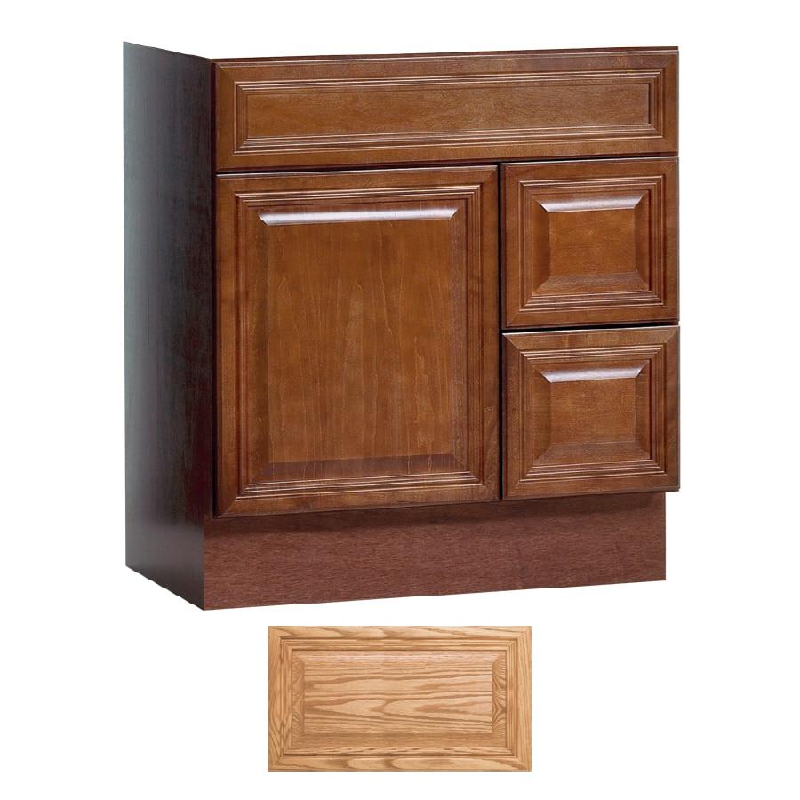 Shop Insignia Ridgefield Medium Oak Traditional Bathroom Vanity Common 30 In X 21 In Actual