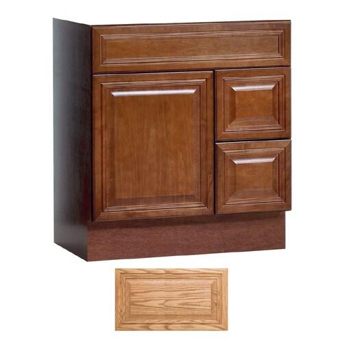 Insignia Ridgefield Medium Oak Traditional Bathroom Vanity ...