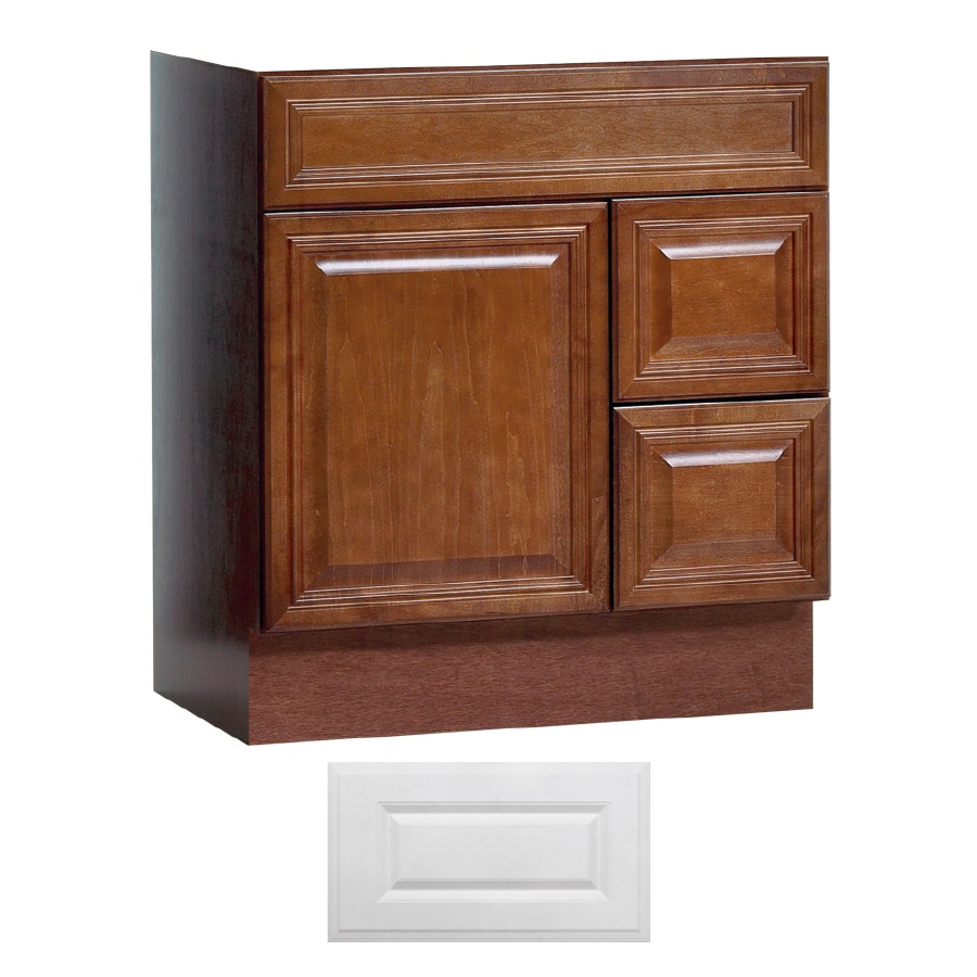 Shop Insignia Ridgefield Satin White Traditional Bathroom Vanity Common 30 In X 21 In Actual