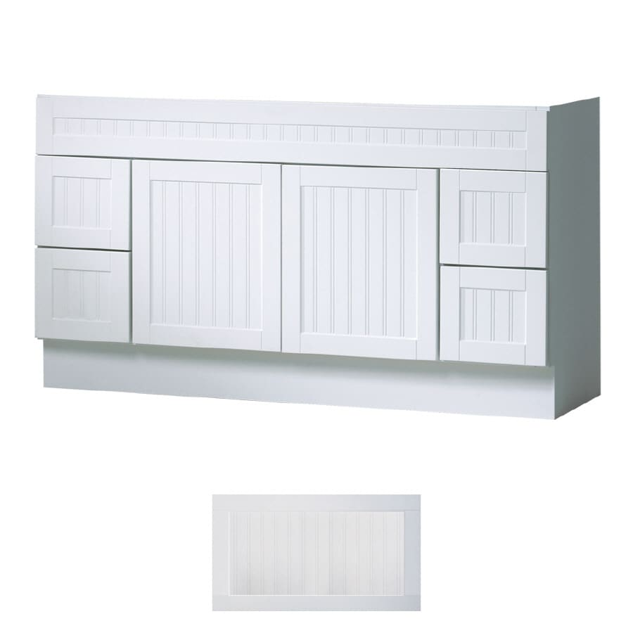 Insignia Providence Satin White Transitional Bathroom Vanity (Common: 60-in x 21-in; Actual: 60-in x 21-in)