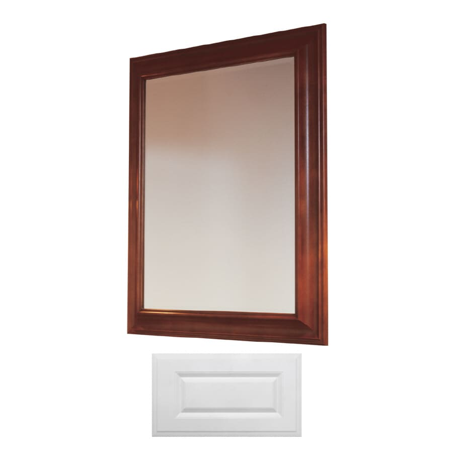 Insignia Insignia 36-in H x 30-in W Satin White Rectangular Bathroom Mirror