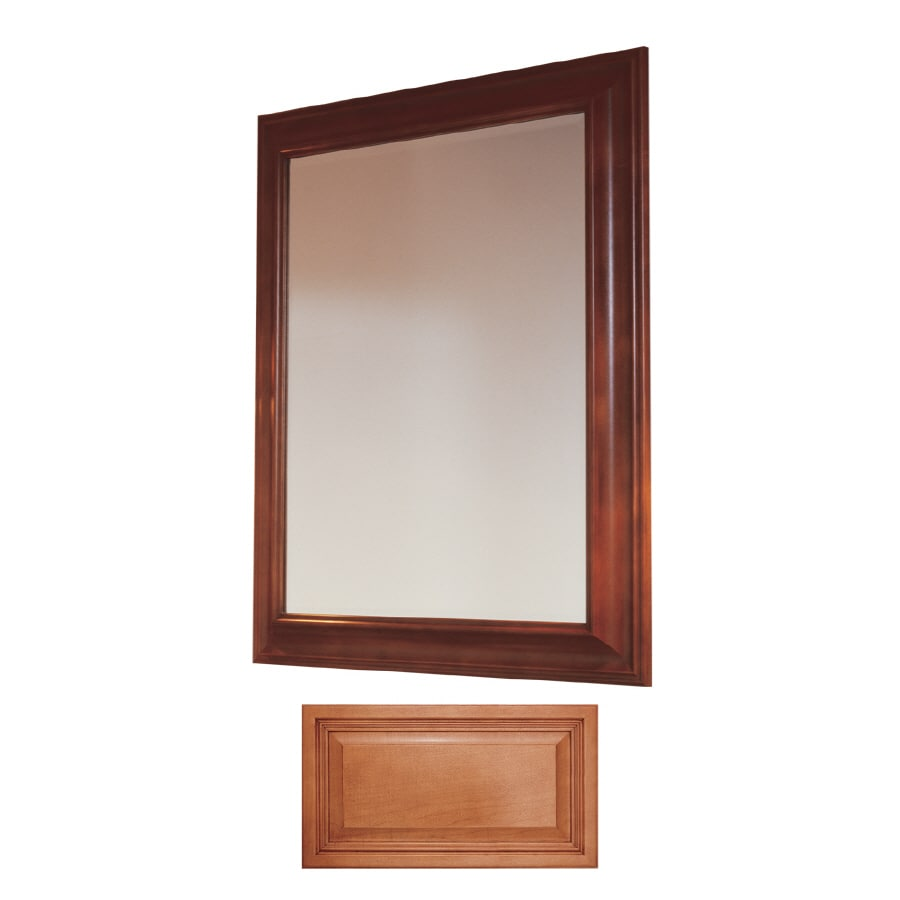 Insignia Insignia 36-in H x 30-in W Cinnamon Rectangular Bathroom Mirror