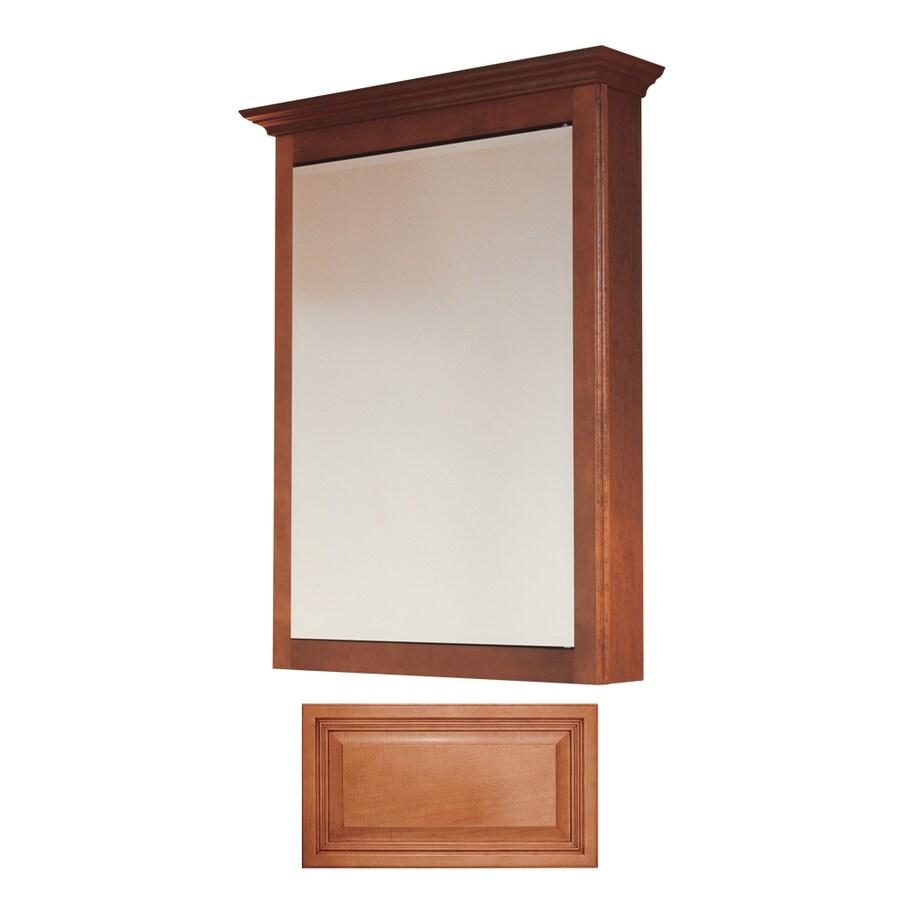 Insignia Insignia 22.75-in x 30.5-in Cinnamon Maple Surface Mount Medicine Cabinet