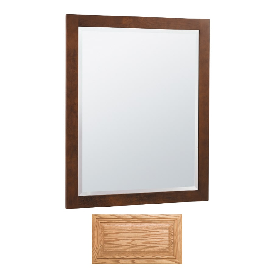 Insignia Insignia 32-in H x 26-in W Medium Oak Rectangular Bathroom Mirror