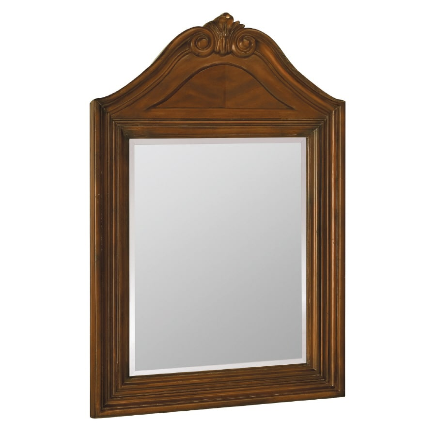 ESTATE by RSI Colonial 25-in W x 37-in H Spiced Cognac Rectangular Bathroom Mirror