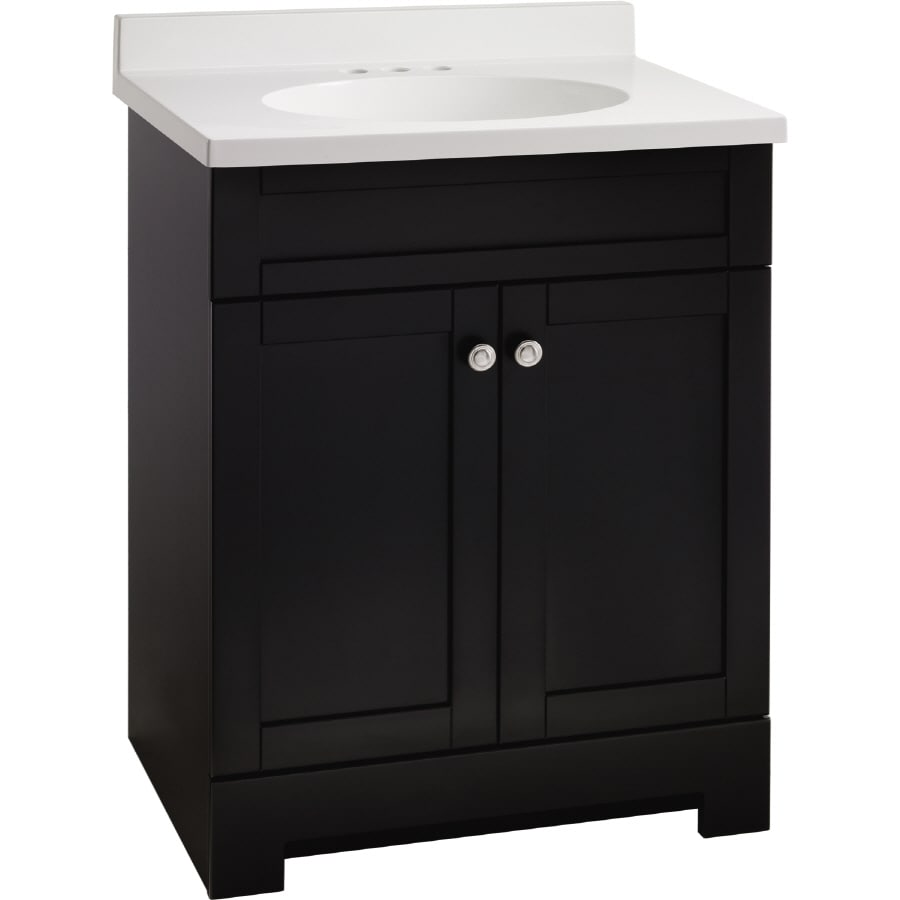 18 bathroom vanity with sink shop estate by rsi verona 31 in x 18 1 2 in black integral 21759