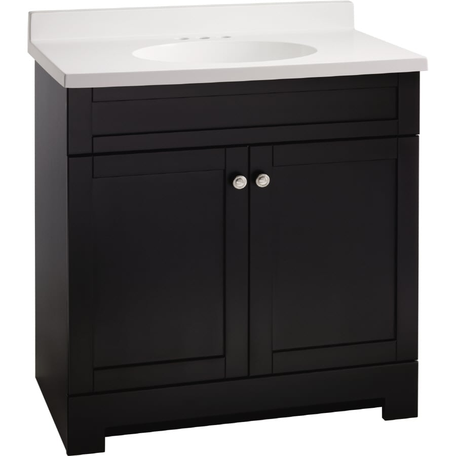 Estate By Rsi Verona 25 In Black Single Sink Bathroom