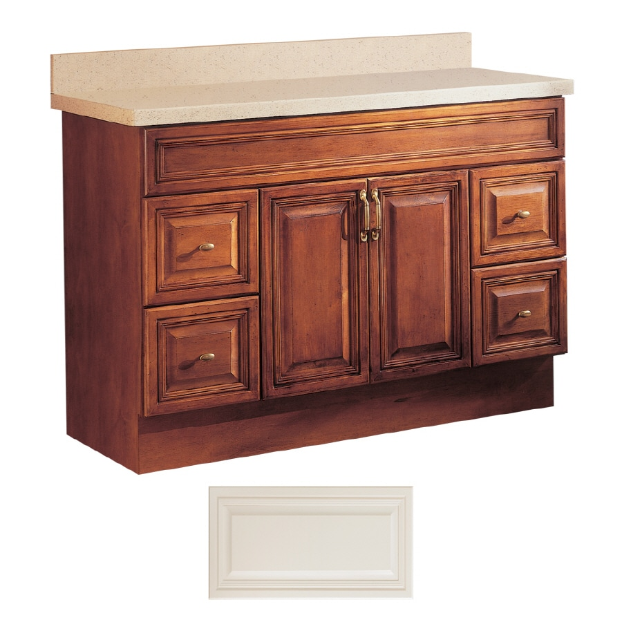 insignia ridgefield vanilla traditional bathroom vanity common 48 in x 21 in