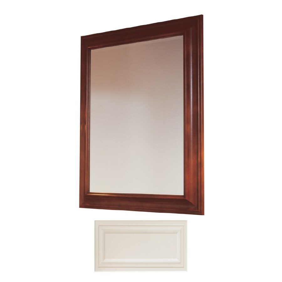 Insignia Insignia 36-in H x 30-in W Vanilla Rectangular Bathroom Mirror