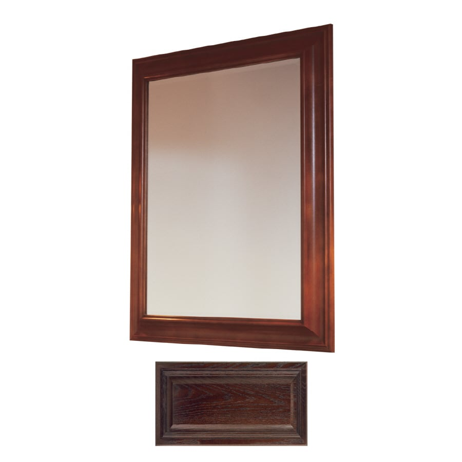 Insignia Insignia 36-in H x 30-in W Java Oak Rectangular Bathroom Mirror