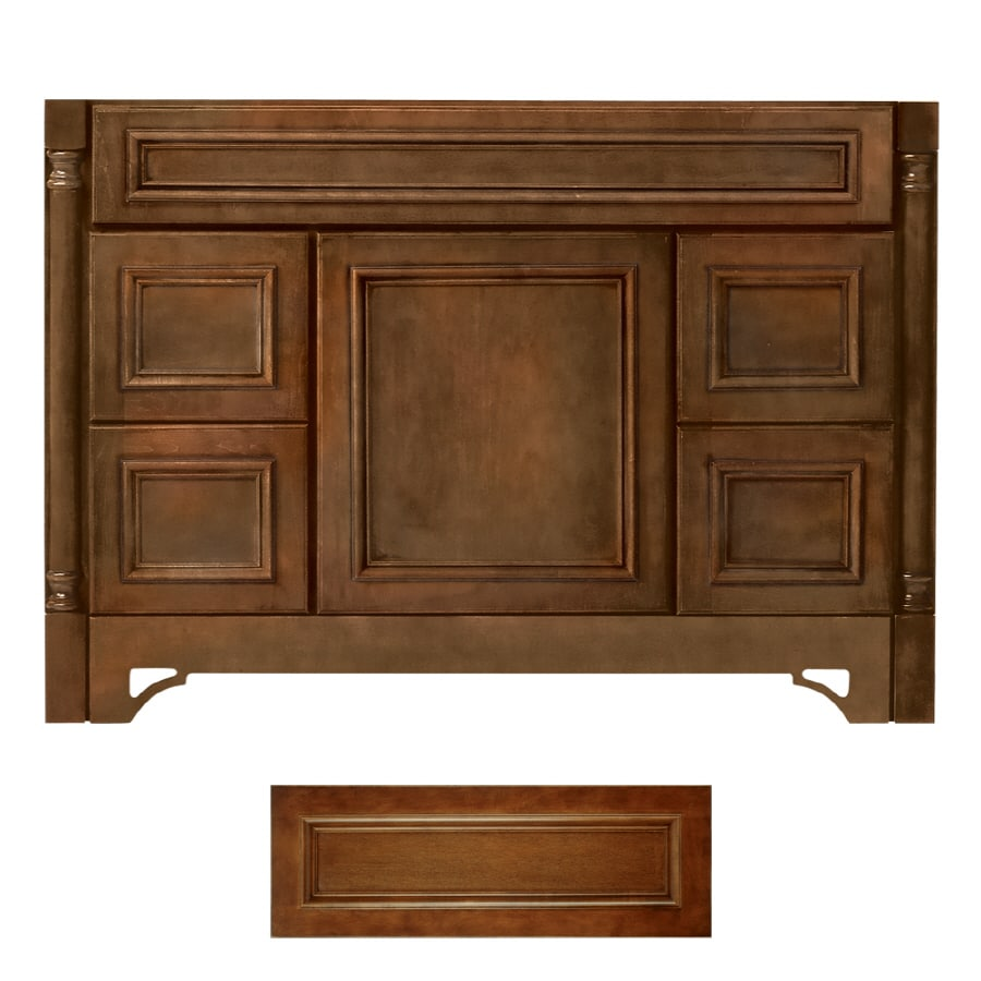 Architectural Bath Savannah Cognac Traditional Bathroom Vanity (Common:  48 In X 21