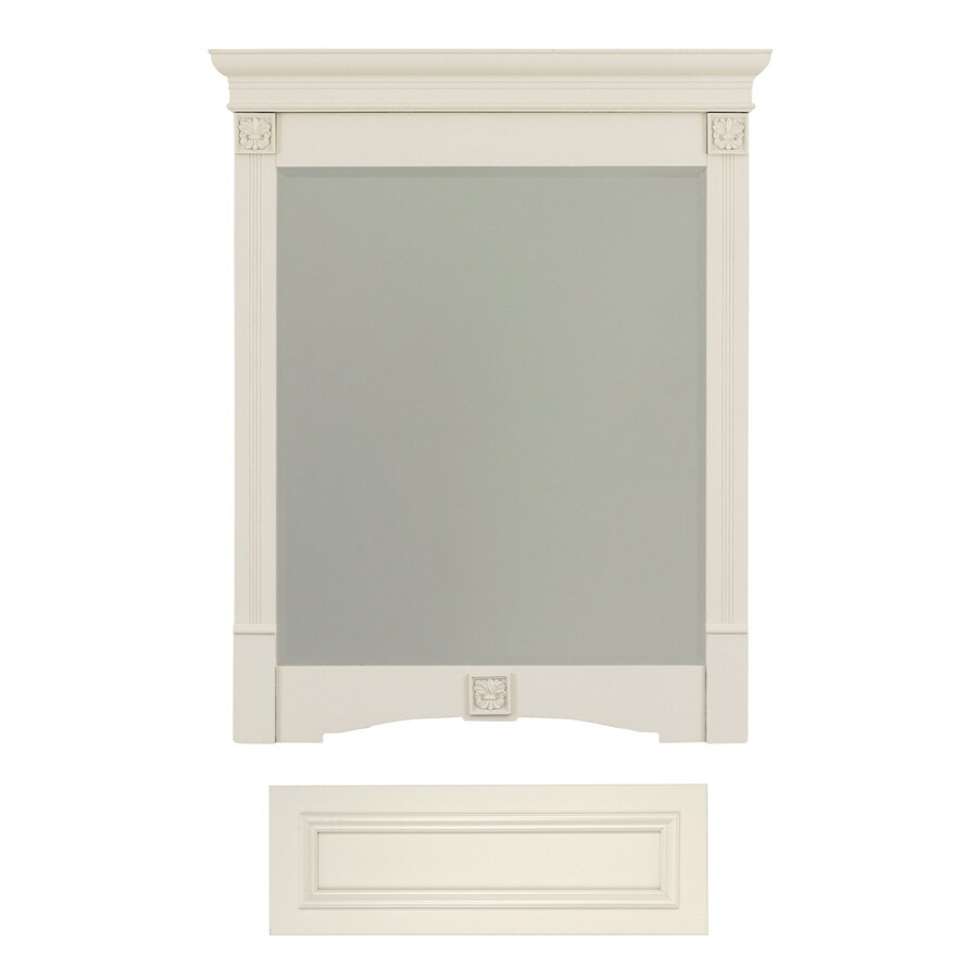 Architectural Bath Tuscany 36.75-in H x 29.5-in W Vanilla Rectangular Bathroom Mirror