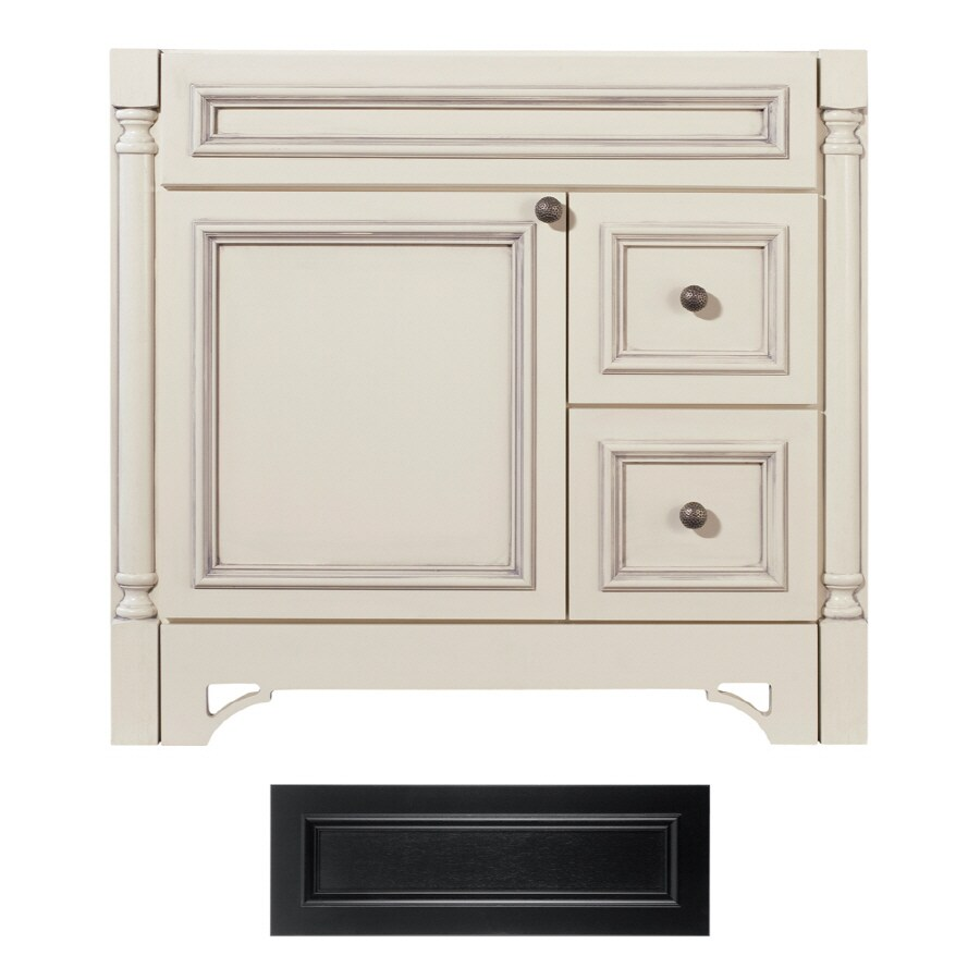 Architectural Bath Savannah Black Traditional Bathroom Vanity (Common:  36 In X 21