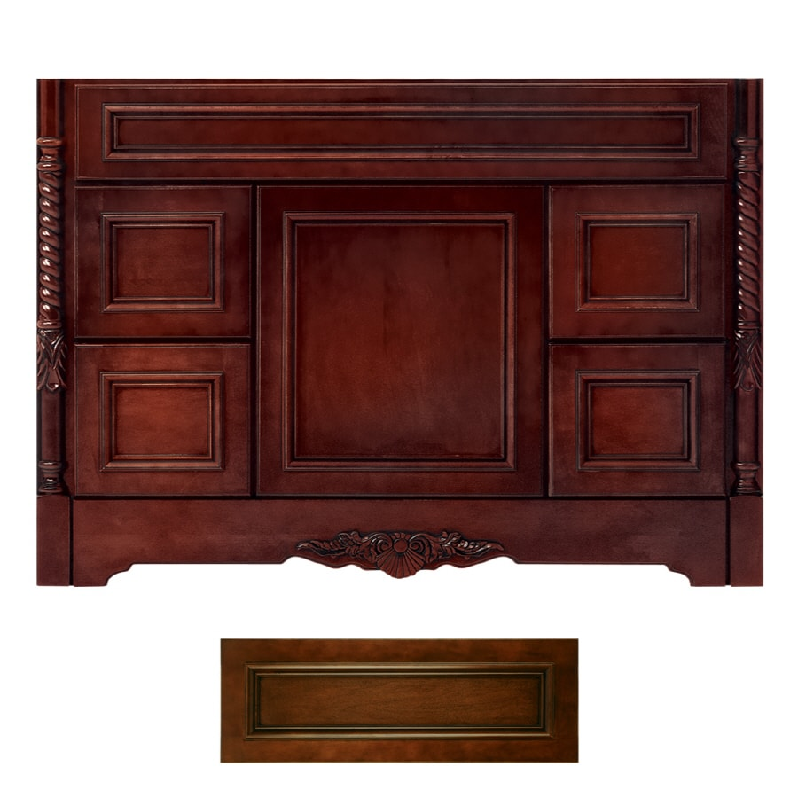 Lovely Architectural Bath Versailles Cognac/Black Traditional Bathroom Vanity  (Common: 48 In X