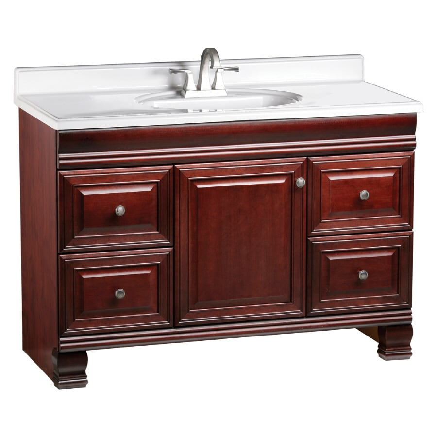 ESTATE by RSI Cambridge Burgundy 48-in Traditional Bathroom Vanity