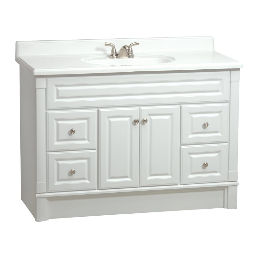 lowes white bathroom vanity shop estate by rsi southport white 48 in casual bathroom 19361