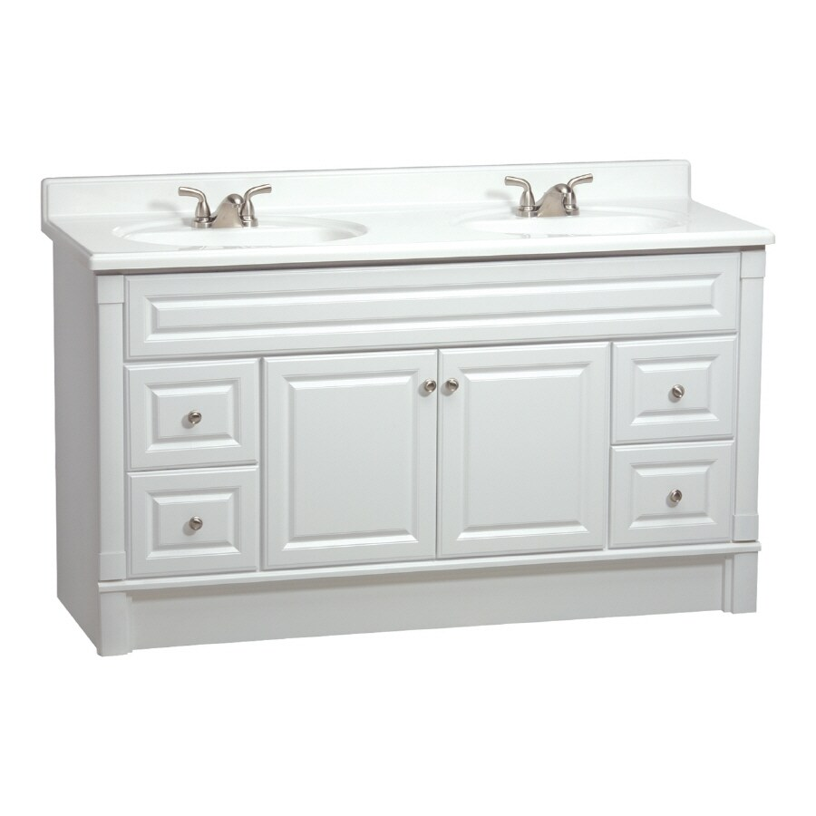 ESTATE by RSI Southport White 60-in Casual Bathroom Vanity
