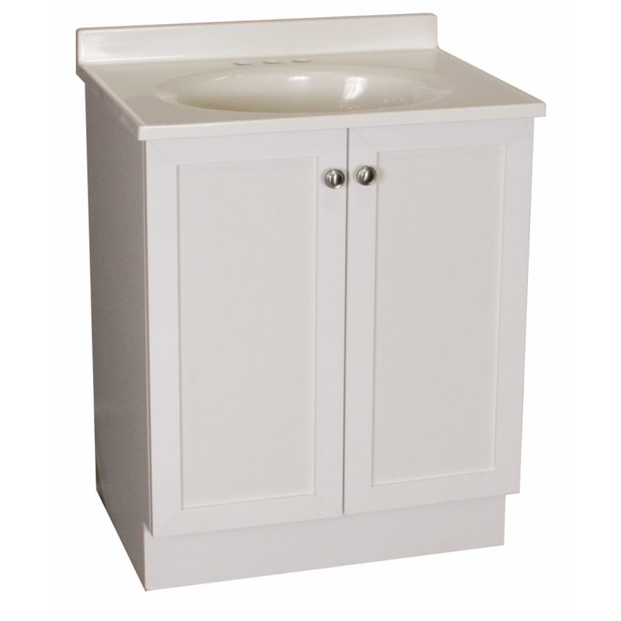 19 bathroom vanity and sink shop project source 19 in white estate single sink 21768