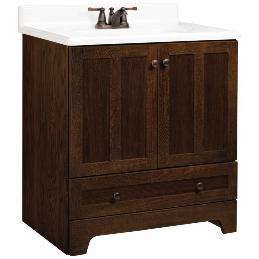 shop estate by rsi ashton cognac oak 30 in casual bathroom vanity at