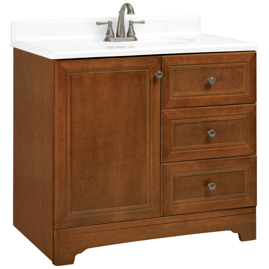 shop estate by rsi wheaton chestnut 36 in traditional bathroom vanity at