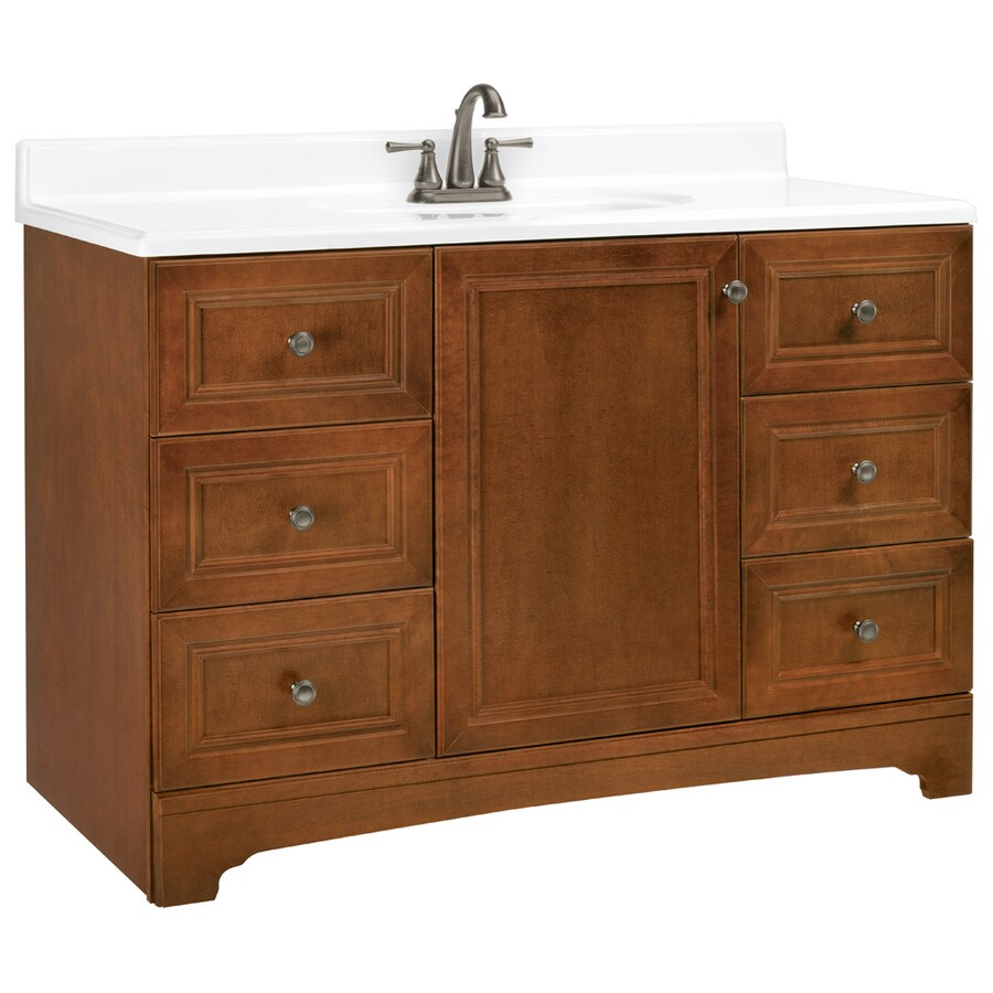 shop estate by rsi wheaton chestnut 48 in traditional bathroom vanity at