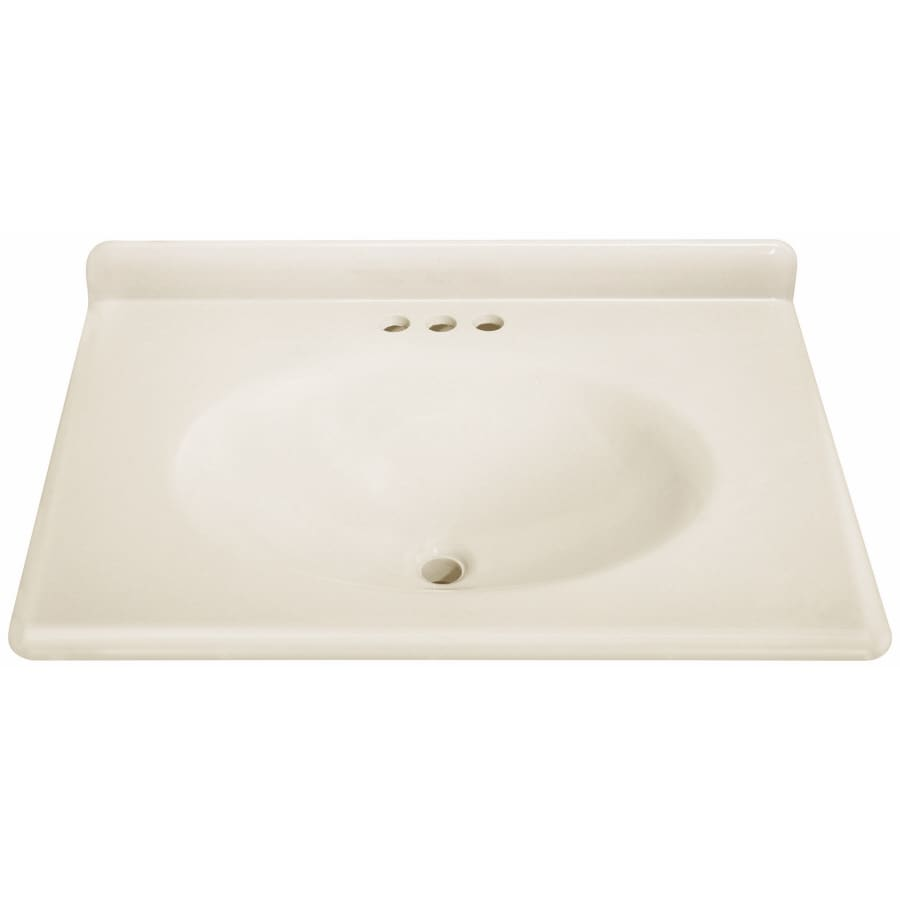 Bathroom Vanity 31 X 22 shop estatersi cultured marble integral single sink bathroom
