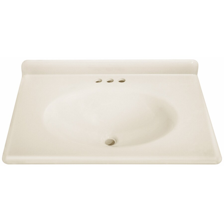 ESTATE by RSI Cultured Marble Integral Single Sink Bathroom Vanity Top  (Actual: 31-
