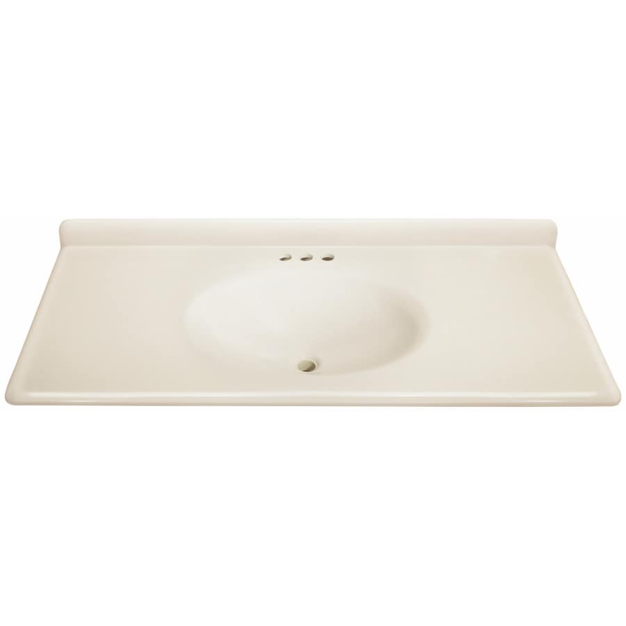 Estate By Rsi Cultured Marble Integral Single Sink Bathroom Vanity Top Actual 49