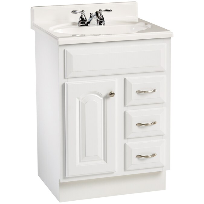 Estate By Rsi 24 White Elegance Traditional Bath Vanity In The Bathroom Vanities Without Tops Department At Lowes Com