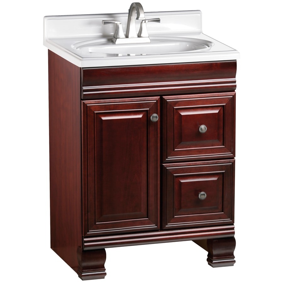ESTATE by RSI Cambridge Burgundy 24-in Traditional Bathroom Vanity
