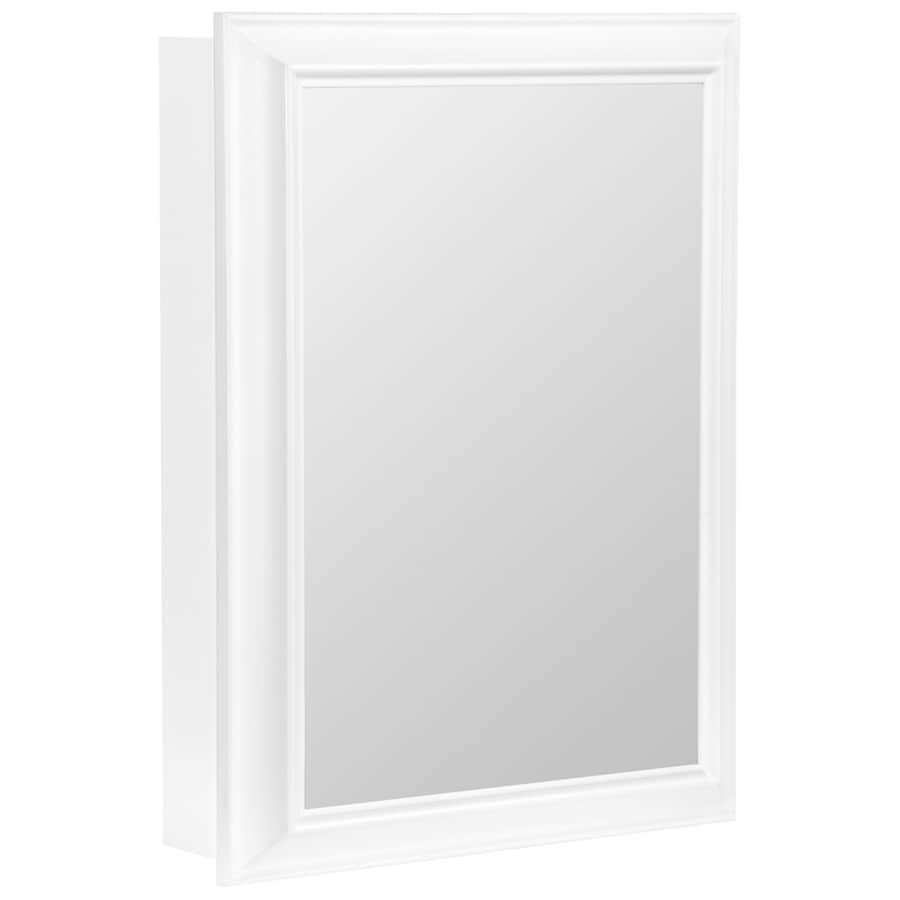 ESTATE by RSI Estate 18-1/2-in x 25-in White Particleboard Surface Mount Medicine Cabinet