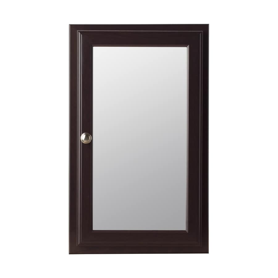 Style selections 15 75 in x 25 75 in rectangle surface recessed mirrored particleboard medicine