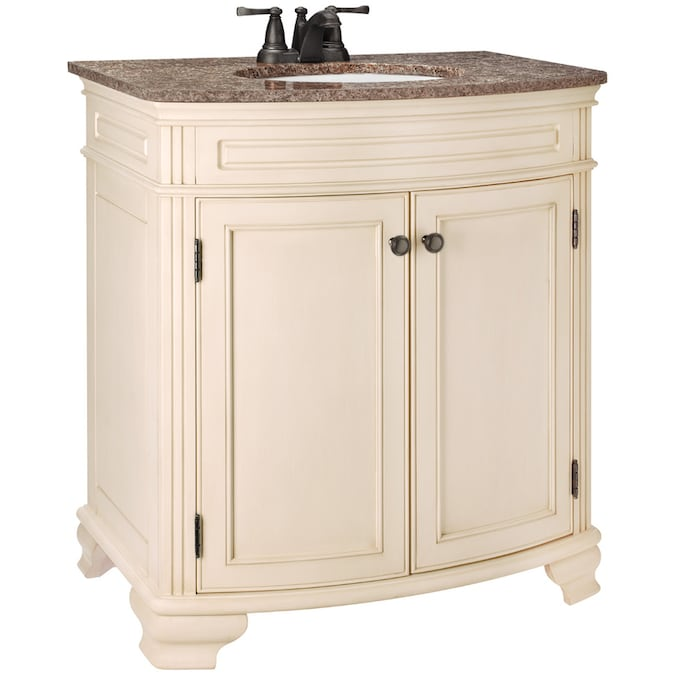 Estate By Rsi Linden Bisque Undermount Single Sink Bathroom Vanity With Granite Top Actual 30 25 In X 20 In In The Bathroom Vanities With Tops Department At Lowes Com