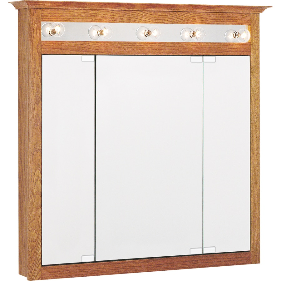 Shop Project Source 37.5-in x 36-in Surface Medicine Cabinet with ...