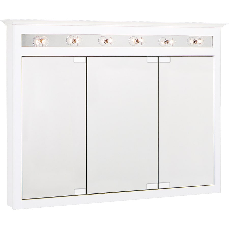 Shop Project Source 49.5-in x 36-in Surface Medicine Cabinet with ...