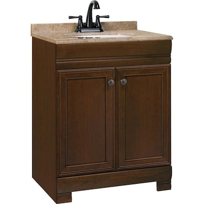 Style Selections Windell 24 5 In Auburn Single Sink Bathroom