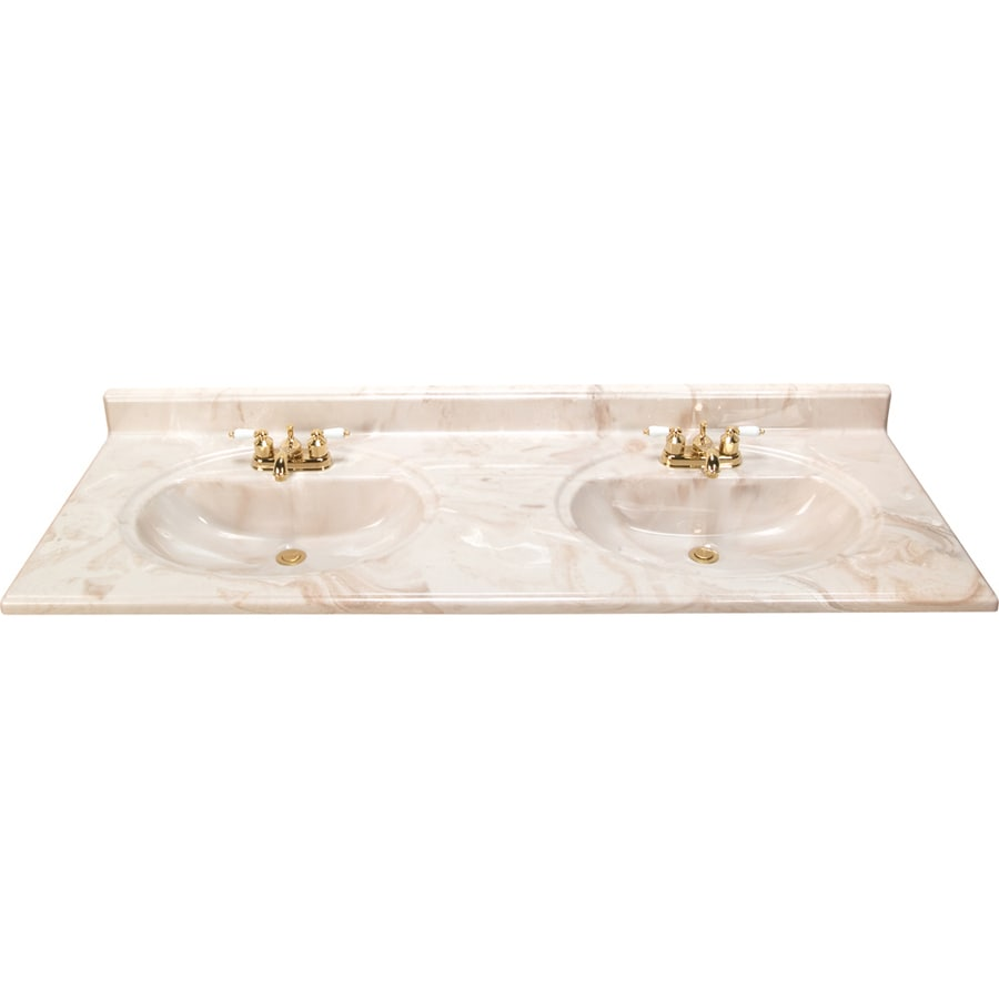 Shop Style Selections Caramel Caramel Cultured Marble Integral Double Sink Bathroom Vanity Top