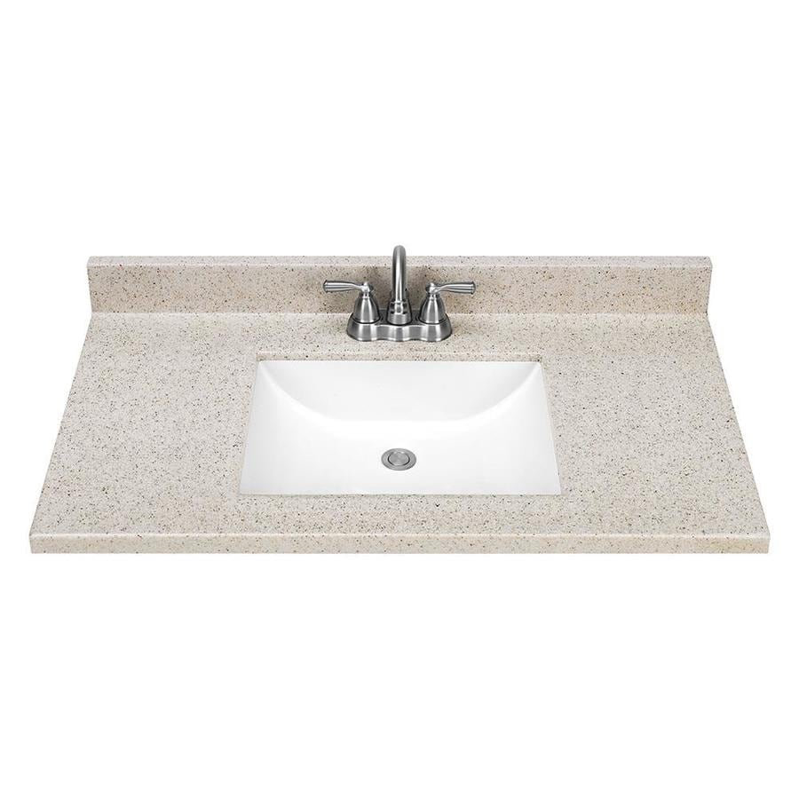 Dune Solid Surface Integral Bathroom Vanity Top (Common: 37-in x 22-in; Actual: 37-in x 22-in)