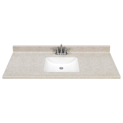 49 In Dune Solid Surface Bathroom Vanity Top At Lowes Com